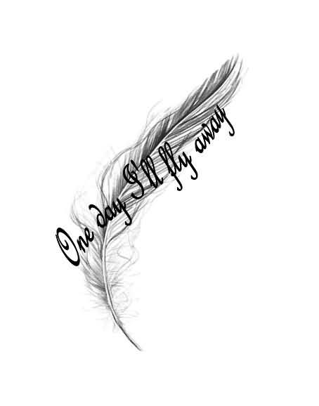 Feather Foot Tattoo Design