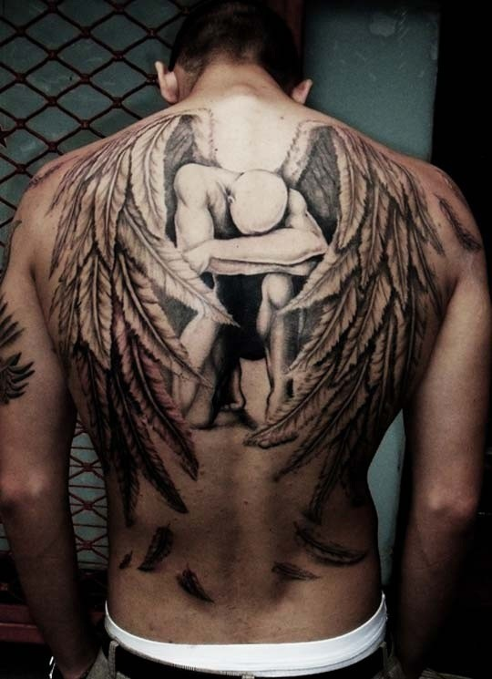 Feather Tattoo Designs For Back