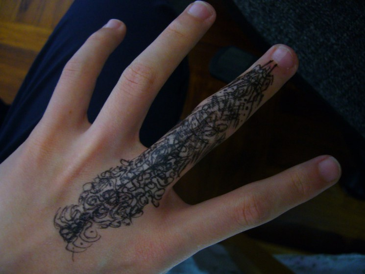 Fingers Tattoo Picture