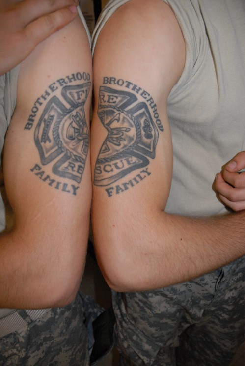 Fire Fighter Muscles Tattoos