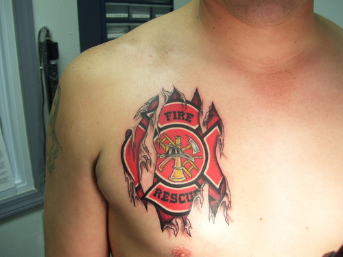 firefighter tattoos tattoo collections. Black Bedroom Furniture Sets. Home Design Ideas