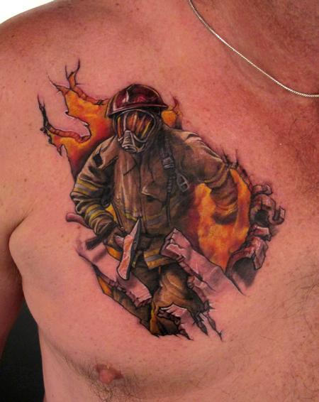 Firefighter Tattoo Image