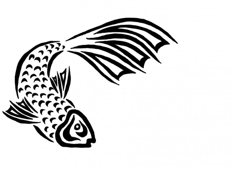 New Pisces Tribal Flow Tattoo Style For Men