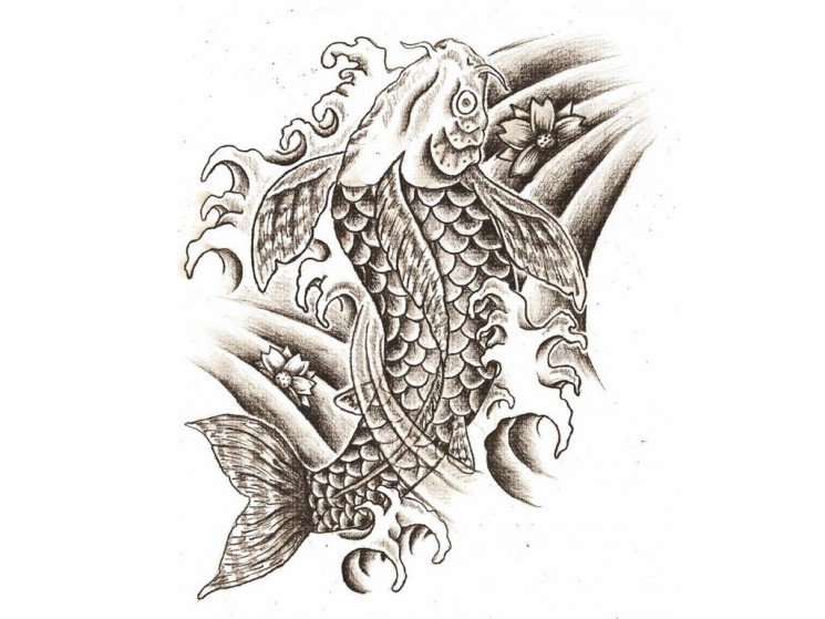Fish Skeleton Tattoo Design