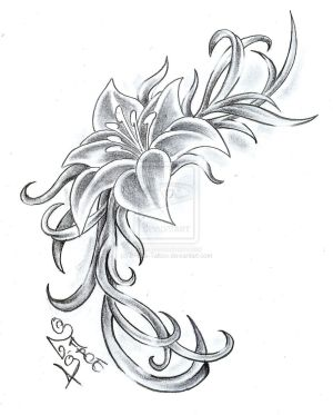 Flower Climb Tattoo Design