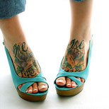 Flowers Tattoo For Girls On Foot