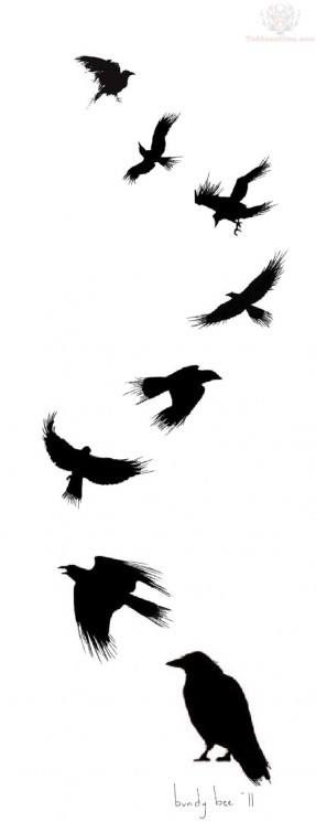 Flying Crows Tattoos
