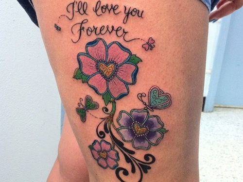 Forever Thigh Tattoos