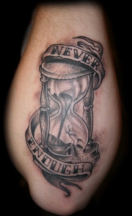 Forget Not The Time Clock And Flowers Tattoo Designs