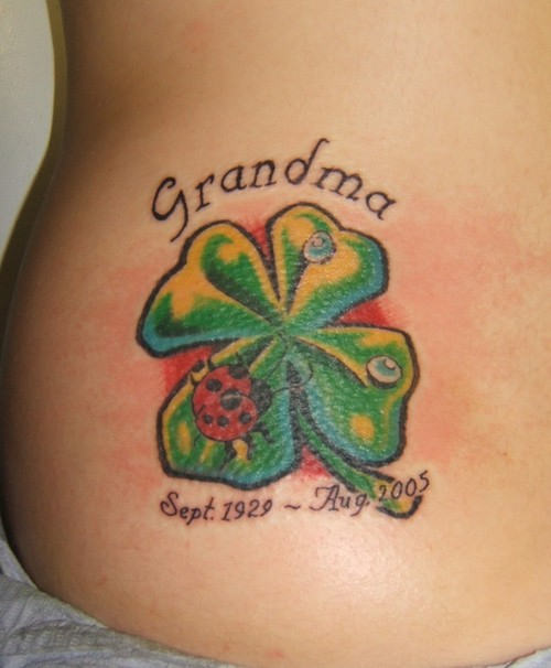 Four Leaf Clover Tattoo For Guys In 2017 Real Photo