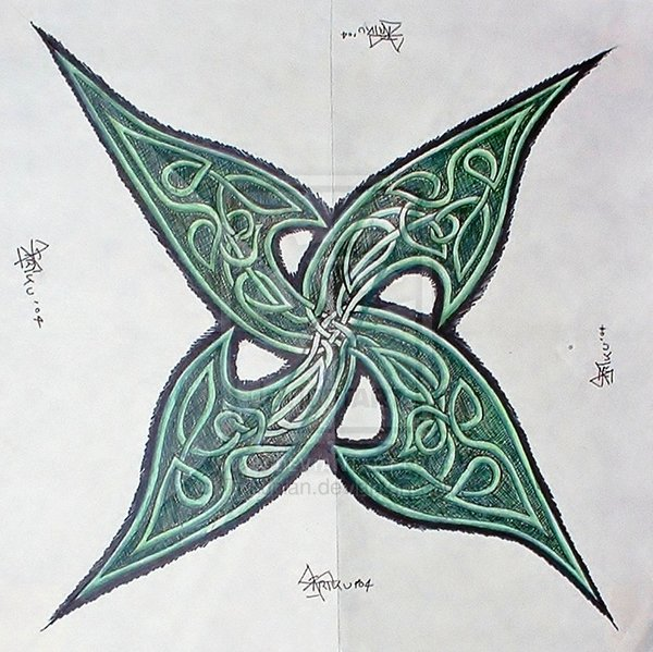 Four Point Celtic Knot Tattoo Design