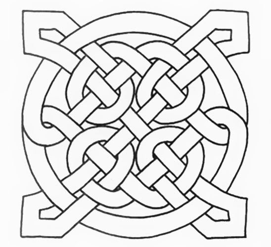 Four Point Celtic Knot Tattoo Stencil