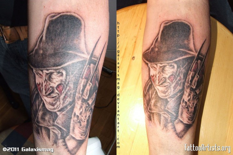 Freddy Krueger Horror Tattoo Pic
