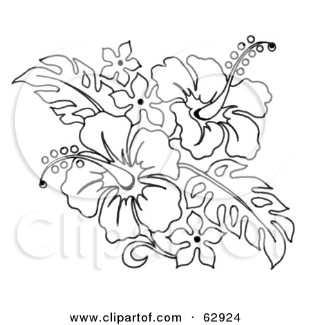 Free Hibiscus Flowers Tattoo Design
