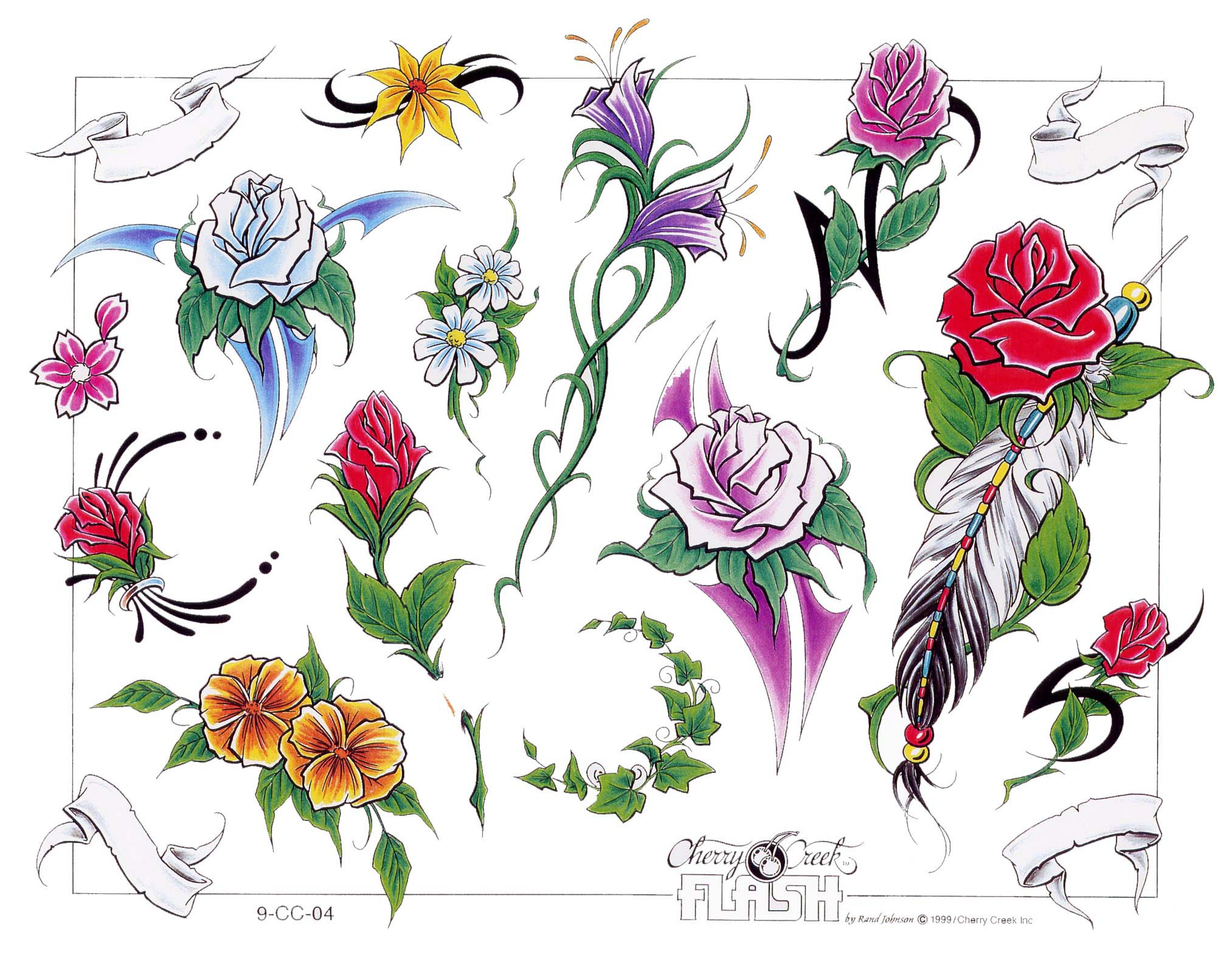 Free Rose Tattoos Designs - All images to free leo sign tattoo design