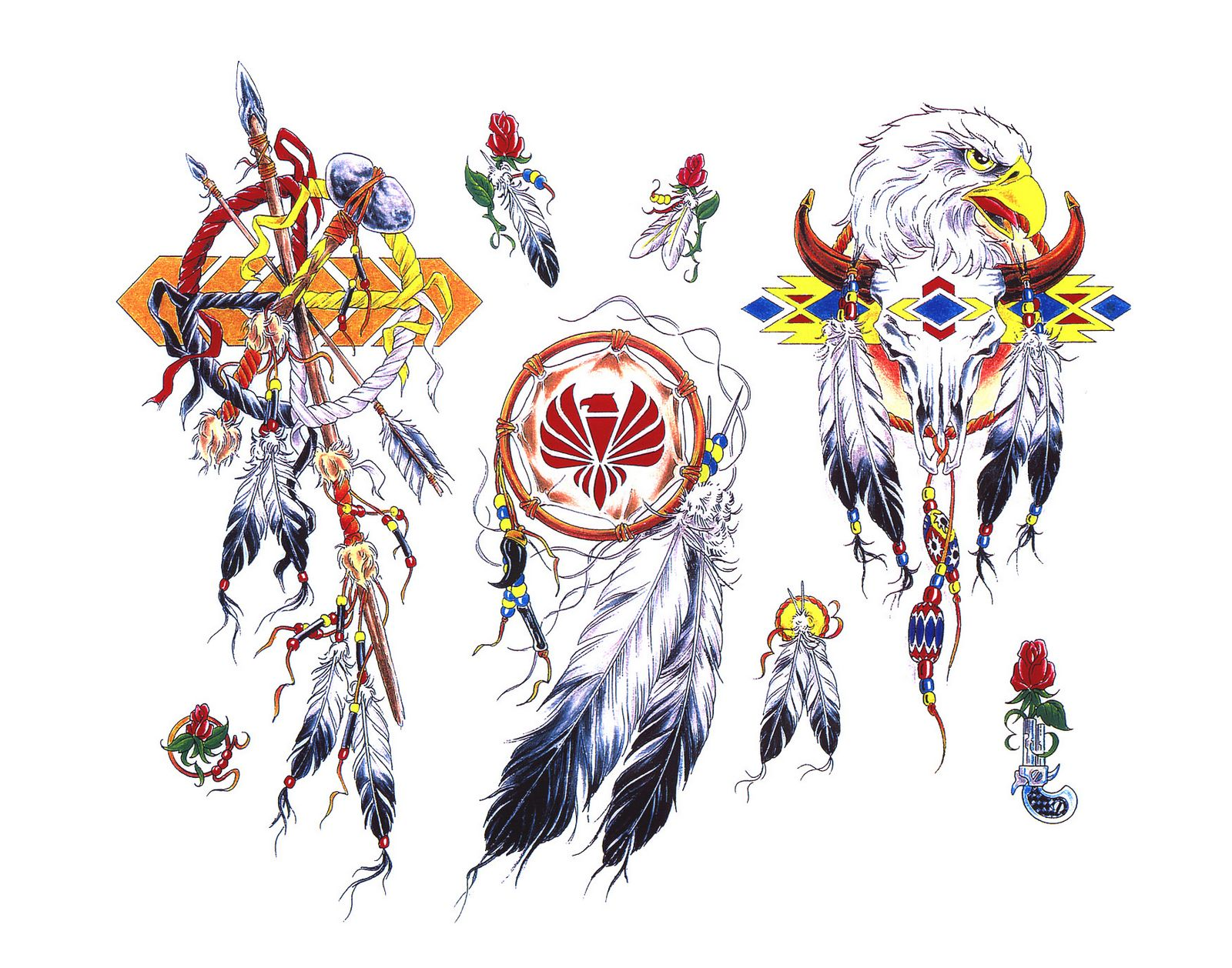 free native american symbol tattoo flash real photo pictures