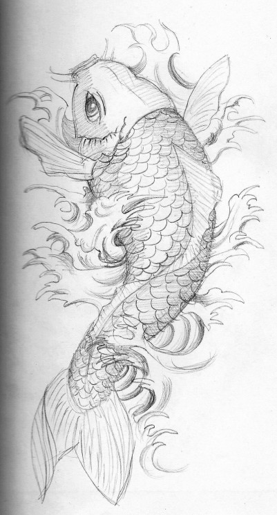 Free Octopus Koi Fish And Octopus Tattoo Design