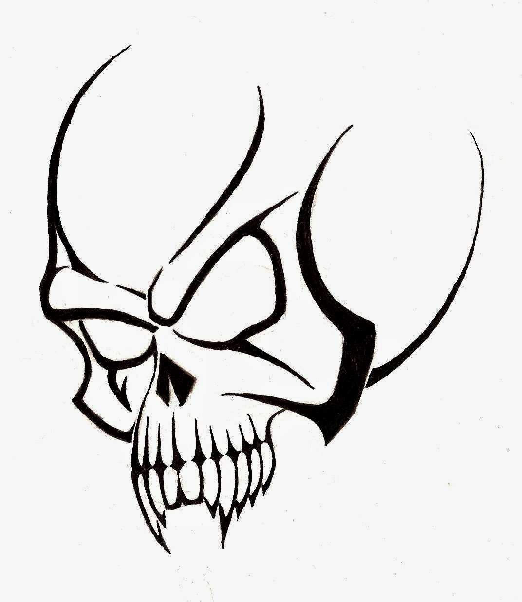 free tribal skull tattoo stencil real photo pictures images and