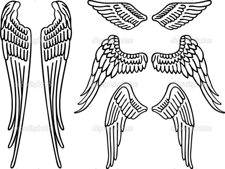 Free Vector Wings Tattoo Designs