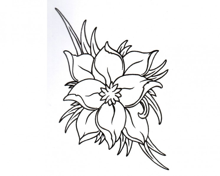 Frog Inside A Lily Tattoo Design