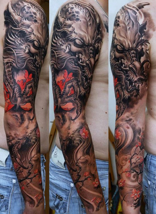Full Arm And Leg Tattoo Designs For Guys