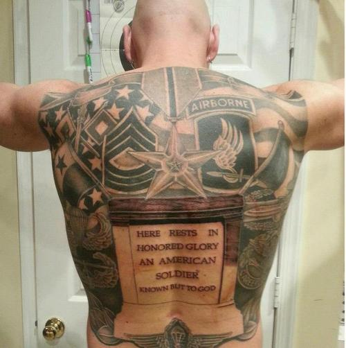 Full Back Military Tattoo Picture