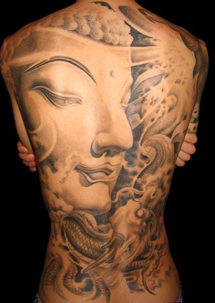 Full Back Religious Buddhist Tattoo Designs