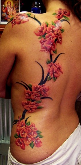 Full Back Tree Vine Tattoos Photo 2 2017 Real Photo Pictures