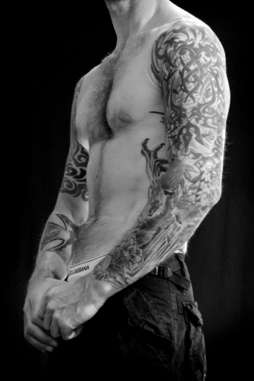 Full Sleeves And Upperbody Tattoos For Dudes