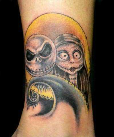 Funny Ghost Tattoo On Ankle