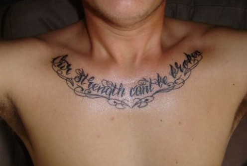 Funny Heart Tattoo On Chest For Guys