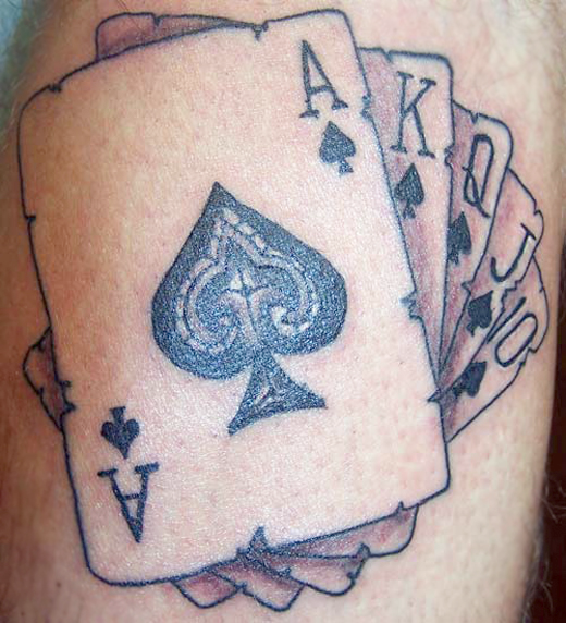 Funny Joker Card Tattoo Design