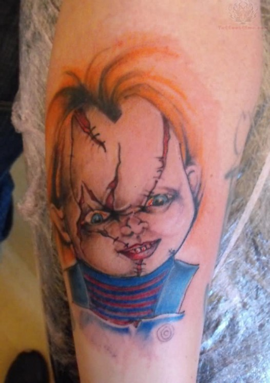 Funny Lechuck Tattoo On Upper Arm