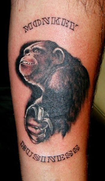 Funny Monkeys Tattoo Designs