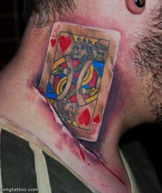 Funny Queen Of Hearts Tattoo