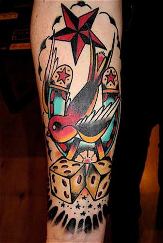 Gambling Card Tattoo Picture