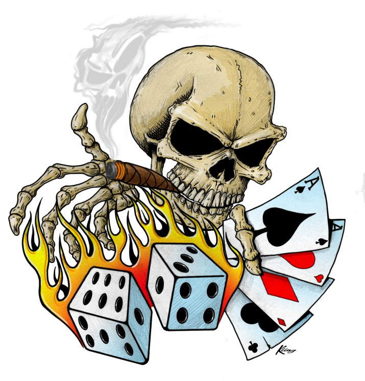Gambling Cards Tattoo On Chest