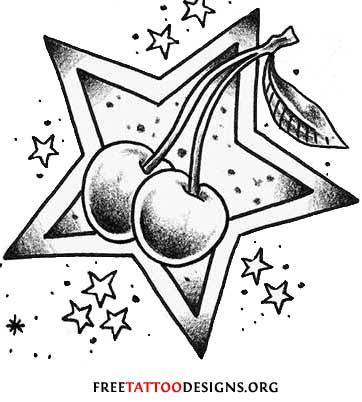 Gambling Cards Tattoo With Nautical Star