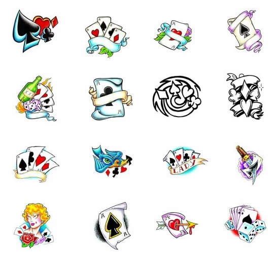 Gambling Tattoo Pictures