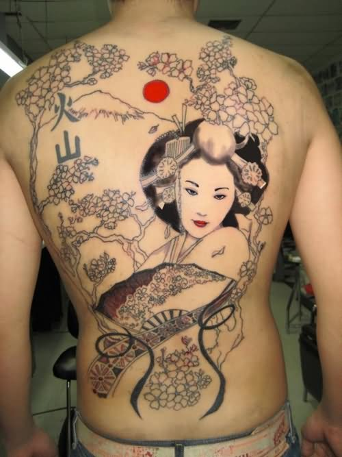 Geisha Tattoo On Biceps