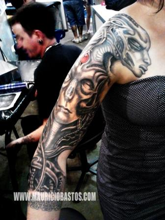 Giger Medusa Tattoo On Arm
