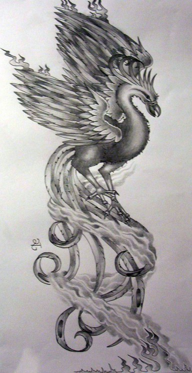 Girly Phoenix Tattoo Designs