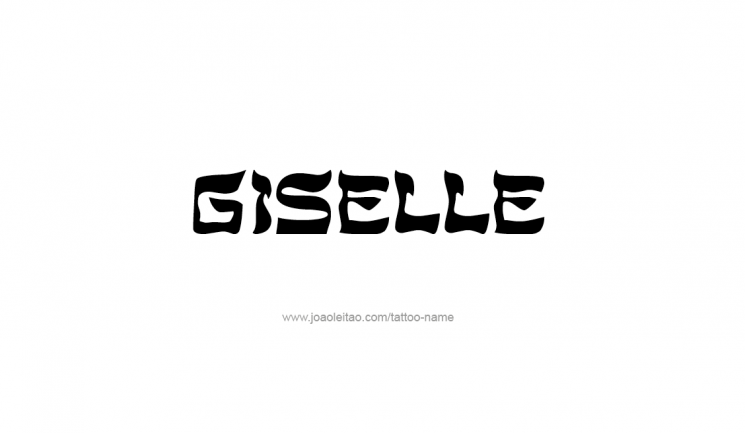 Giselle Ambigram Tattoo Design