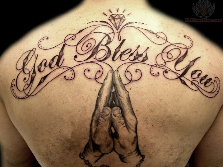 God Bless America Tattoo On Chest