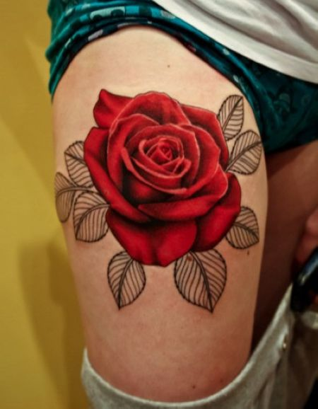 Gorgeous People And Flower Tattoos