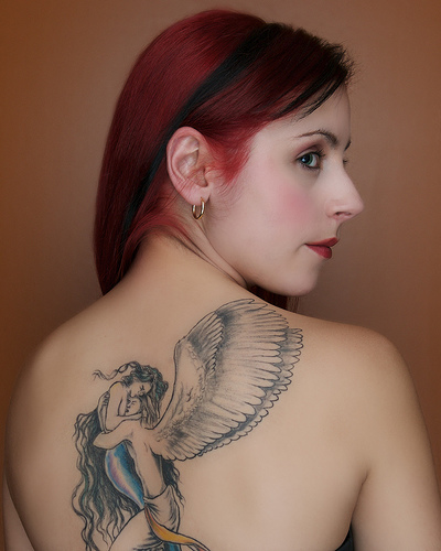 Gothic Tattoo Design On The Back Body