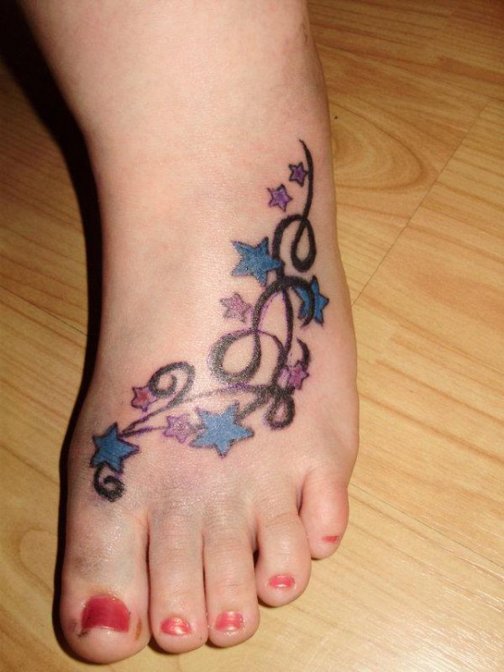 Grapes Ankle Tattoo Design