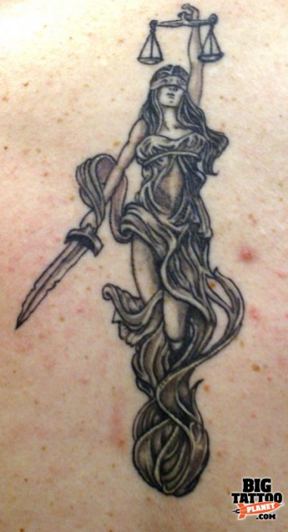 Great Justice Lady Tattoo Design