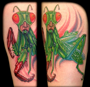 Green Insect Tattoo Design