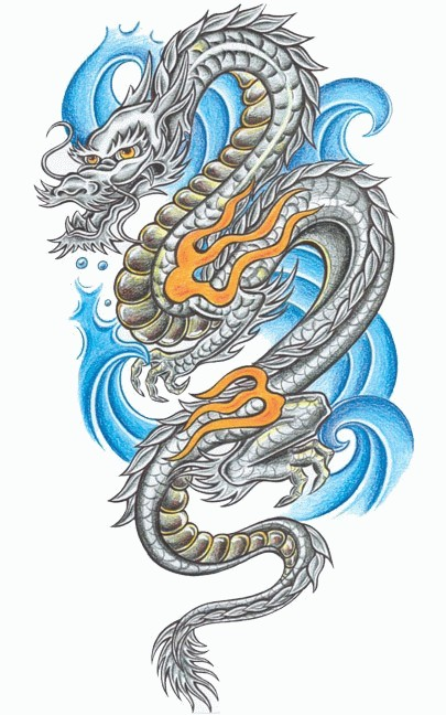 green japanese dragon tattoo design in 2017 real photo pictures images and sketches tattoo. Black Bedroom Furniture Sets. Home Design Ideas